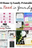 40 Home and Family Printables You Need in Your Life