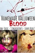 Homemade Halloween Blood {Homemade Theater Blood}