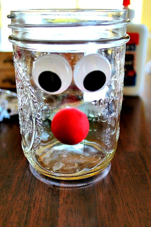 Mason Jar Crafts Reindeer Noses Diy Gift Idea Six Dollar Family