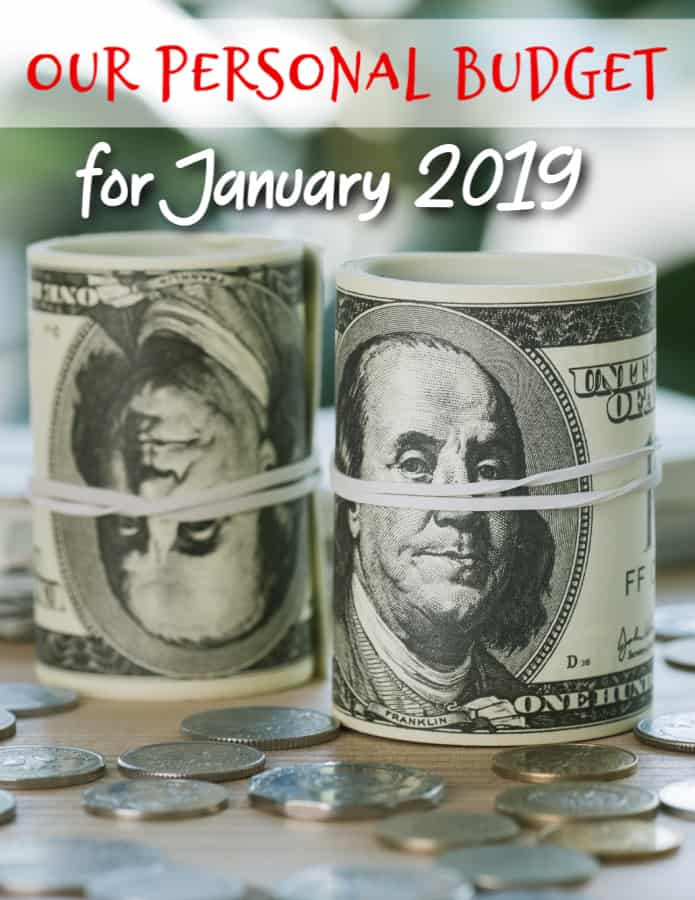 Our Budget for January 2019 - I love to sneak a peek at other people's budgets! It helps me to know whether I'm on track or not! Here is our personal budget for January 2019! See why we're rebuilding our savings from the ground up!