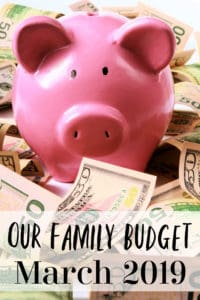 Our Family Budget for March 2019 - It's that time again! I'm sharing our REAL family budget for March 2019! Walk our financial journey with us as we have budget failures, financial successes and more!