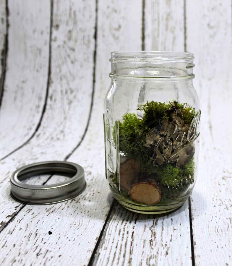 Attract fairies with this simple fairy light. This mason jar craft is the perfect outdoor light, mason jar centerpiece & more. Click for easy directions.