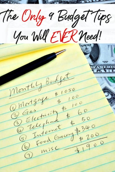 Are you budget challenged? You're not alone! Let me help you out! These are the only budget tips you will ever need to keep your budget & spending under control!