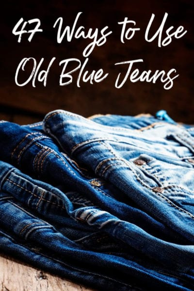 Have a closet full of jeans you'll never wear? You could sell them OR you could make something amazing! These 47 ways to use old blue jenas are perfect ways to repurpose old denim with your crafty side!