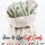 If you need a bit of budget help, don't panic. I have a super simple way using discount gift cards to help you spend less and budget easier!