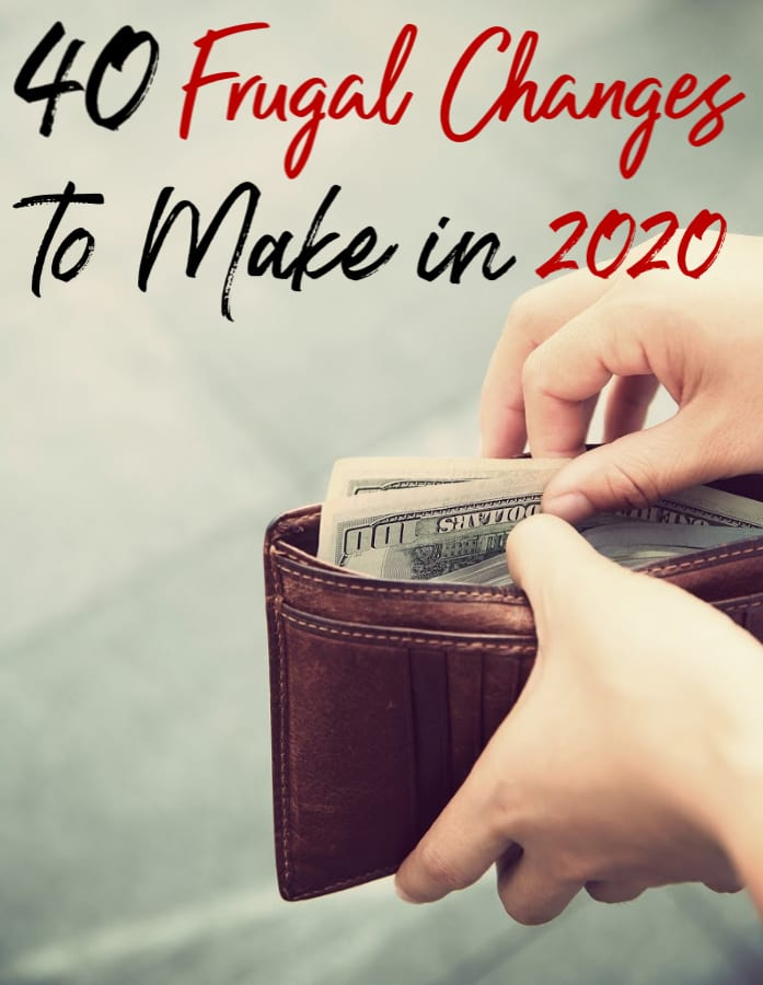 Ready to work hard on your new years financial goals? These frugal changes are perfect for helping to reduce your spending getting you off to a great start!