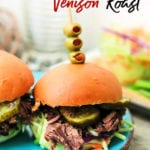 Skip the beef roast and make this slow cooker venison roast recipe instead! Eat it as a roast with vegetables, in venison stew or as a venison slider! No matter how you choose to eat it, this slow cooker deer roast is sure to become a family favorite!