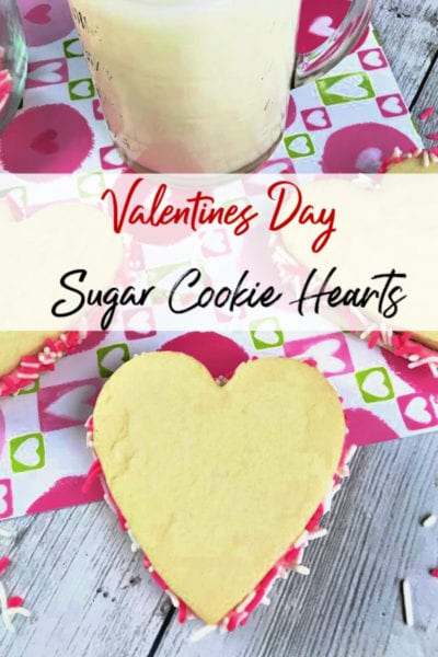 Valentine's Day is just around the corner which means school parties and sweets for your sweetheart.These Valentine's Day Sugar Cookie Hearts are the perfect treat! They're an easy to make, tasty and super adorable way to show your love!