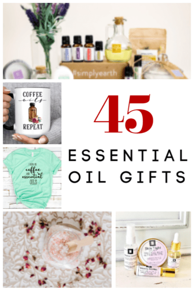 Need a great gift idea for an essential oil user? These are the 45 best essential oil gift ideas we could find! There's an essential oil gift for everyone and every occasion!